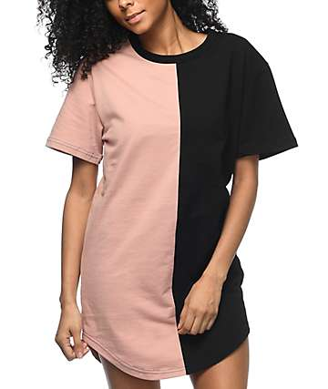 Civil Savage Split Seam Mauve & Black Drop T-Shirt