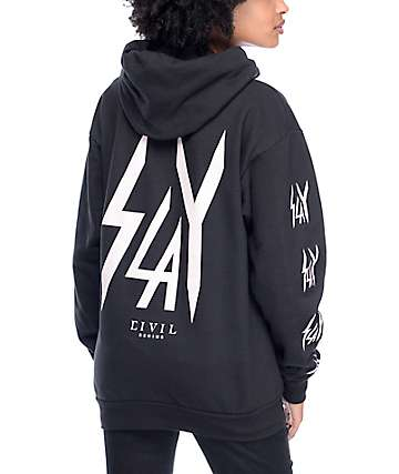 Civil Slay Repeat Black Hoodie