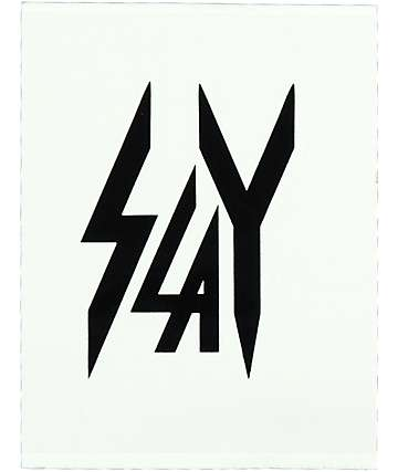 Civil Slay Small Black Sticker
