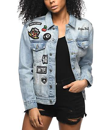 Civil Splatter Patches Denim Jacket