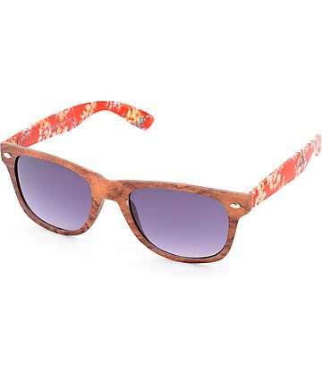 Classic Aloha gafas de sol en impresión madera y floral