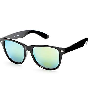 Classic Black & Fire Revo Sunglasses
