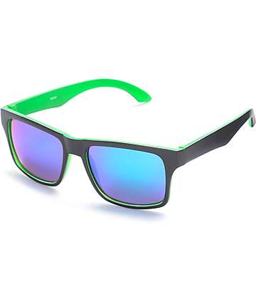 Classic Black & Green Revo Sunglasses