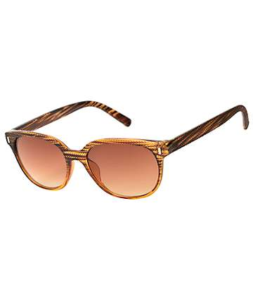 Classic Faux Wood Sunglasses