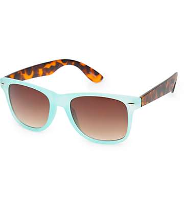 Classic Mint & Tortoise Shell Sunglasses