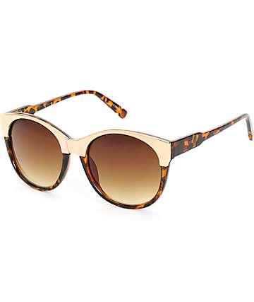 Classic Oversize Gold Rim Sunglasses