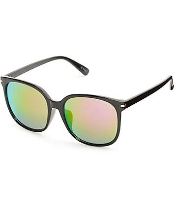 Classic Oversized Black & Pink Sunglasses