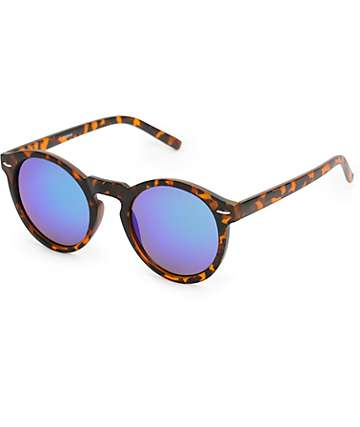 Classic Round Keyhole Tortoise Revo Sunglasses