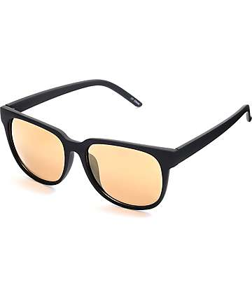Classic Rubberized Black & Gold Sunglasses