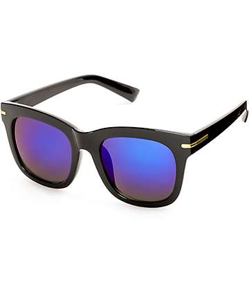 Classic Saint Black & Blue Sunglasses