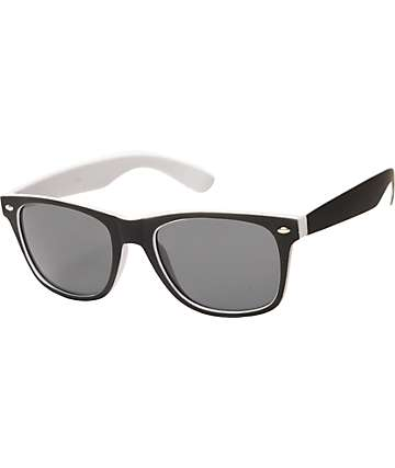 Classic Spec Black & White Sunglasses