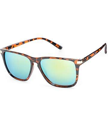 Classic Tortoise Shell & Green Revo Sunglasses
