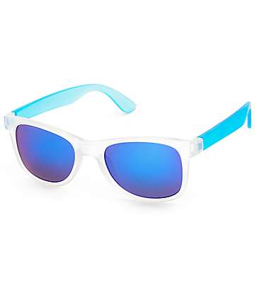 Classic White & Blue Sunglasses