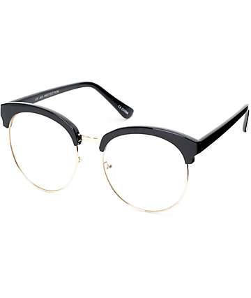 Clear Lens Black Clubmaster Glasses