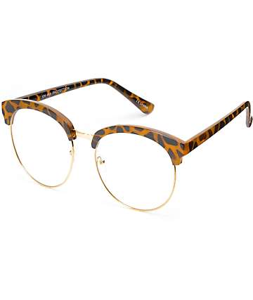 Clear Lens Tortoise Clubmaster Glasses