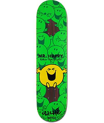 "Cliche x Mr. Men Javier 7.75"" Impact Support Skateboard Deck"