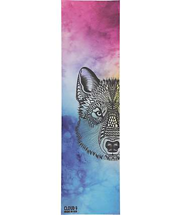 Cloud 9 Zentangle Wolf Tie Dye Griptape