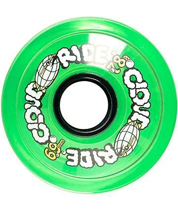 Cloud Ride Clear Green 69mm 78a Longboard Wheels
