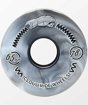 Cloud Ride Round 65mm 78a Grey Tie Dye Cruiser Wheels