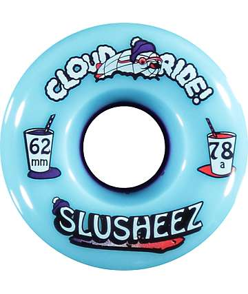 Cloud Ride Slusheez 62mm 78a Longboard Wheels