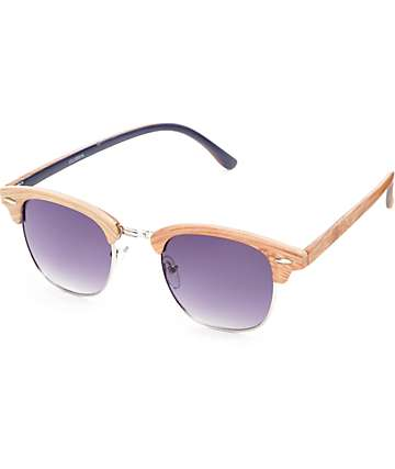 Clubbin Wood Retro Sunglasses