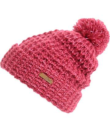 Coal Kate Burgundy Pom Beanie