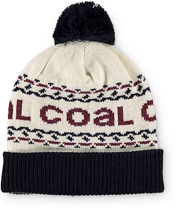 Coal Kelso Pom Beanie