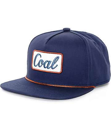 Coal Palmer Navy Snapback Hat