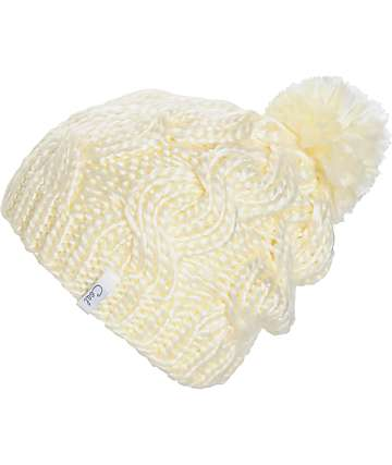 Coal Rosa Cream Beanie