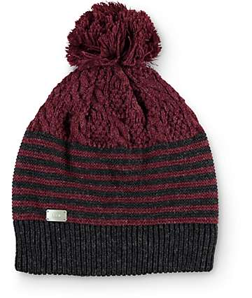 Coal Sweater Burgundy Pom Beanie
