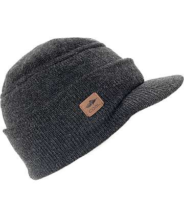 Coal The Burns Heather Black Visor Beanie
