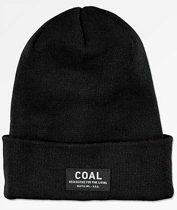 Coal The Carson Black Fold Beanie