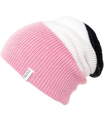 Coal The Frena Black, White & Pink Beanie