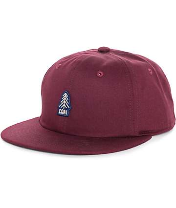 Coal The Junior Burgundy Snapback Hat