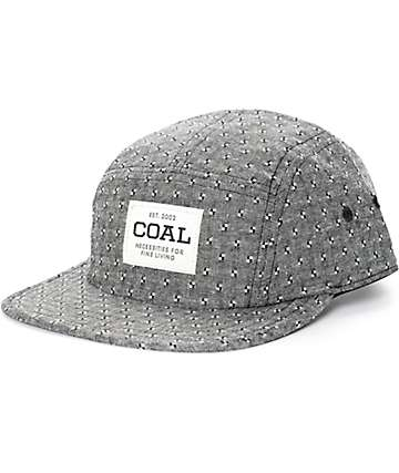 Coal The Richmond Black Chambray 5 Panel Hat