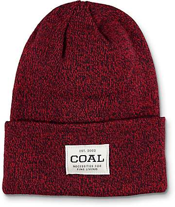 Coal Uniform Americana Burgundy Marled Beanie