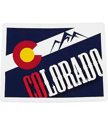 Colorado Flag Fill Sticker