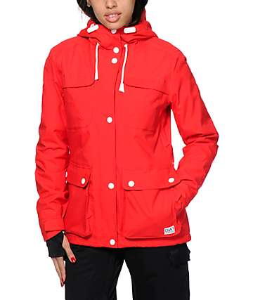 Colour Wear Ida Red 10K Snowboard Jacket