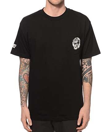 Concrete Jungle Lion City Teeth Pocket T-Shirt