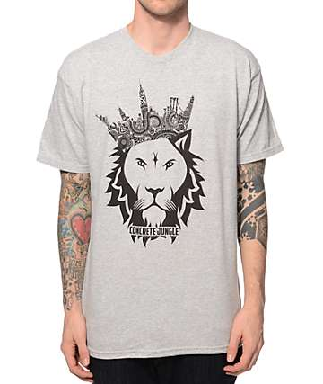 Concrete Jungle Lion Paisley Crown T-Shirt