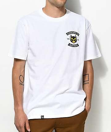 Concrete Native Black Cat White T-Shirt