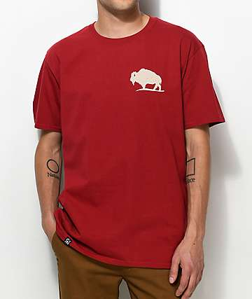 Concrete Native Buffalo Burgundy T-Shirt