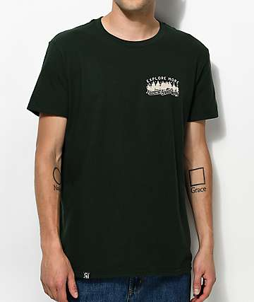 Concrete Native Explore More Olive T-Shirt