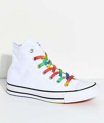 Converse CTAS Hi Pride Pack Multi-Colored & White Shoes