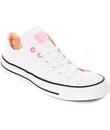 Converse CTAS Madison White & Pink Shoes