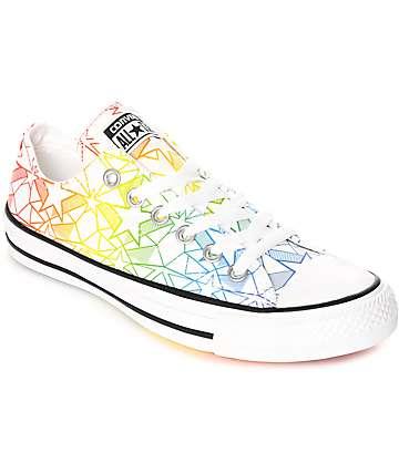 Converse CTAS Ox Pride Pack zapatos en blanco y multi