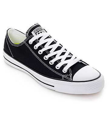 Converse CTAS Pro Black & White Canvas Skate Shoes