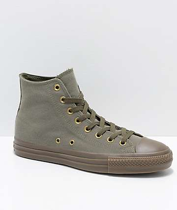 Converse CTAS Pro Hi Kevin Rodrigues Green & Brown Skate Shoes