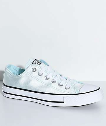 Converse Chuck Taylor All Star Ox Glacier Blue Velvet Shoes
