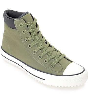 Converse Chuck Taylor All Star Shield Canvas PC Fatigue botínes en verde y negro